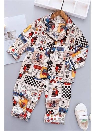 Riccotarz Kız Çocuk Misto Pijama Takımı Beyaz